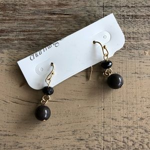 Black Charming Charlie Earrings